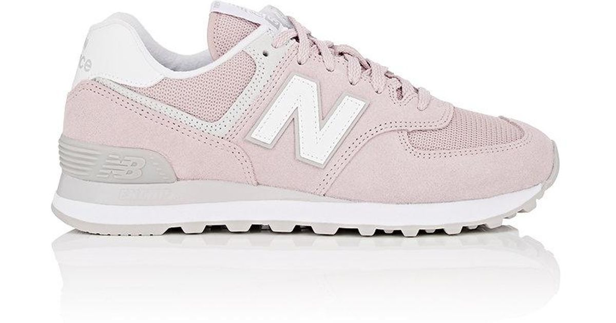 new concept f8c9a 74be0 New Balance - Pink 574 Classic Suede & Mesh Sneakers - Lyst
