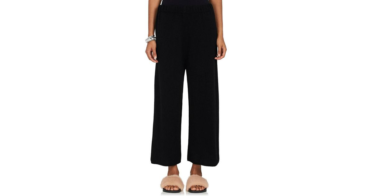 69547d244180a8 Barneys New York Cashmere Crop Pants in Black - Lyst