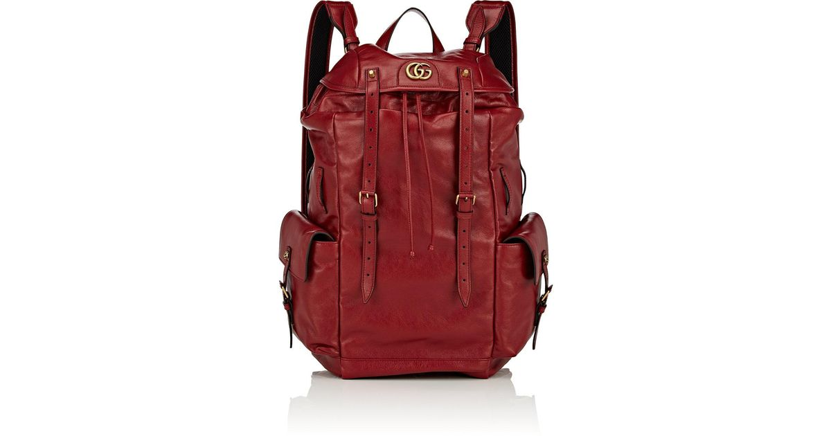 26b1893d1a76c Gucci Re(belle) Leather Backpack in Red - Lyst