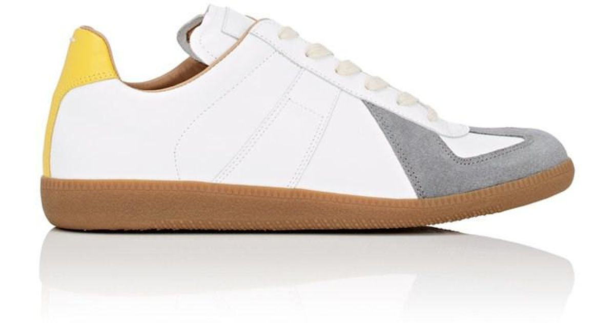 Replica Leather And Suede Sneakers Maison Martin Margiela C8nHN44