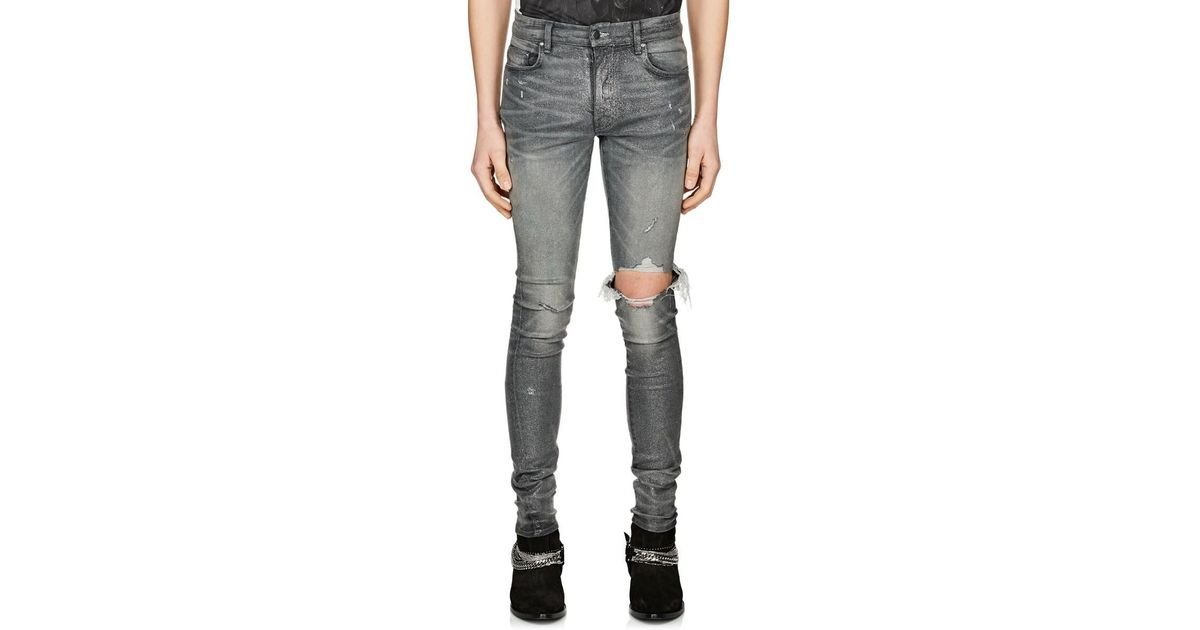 0149d413 Amiri Broken Glitter Jeans in Blue for Men - Lyst