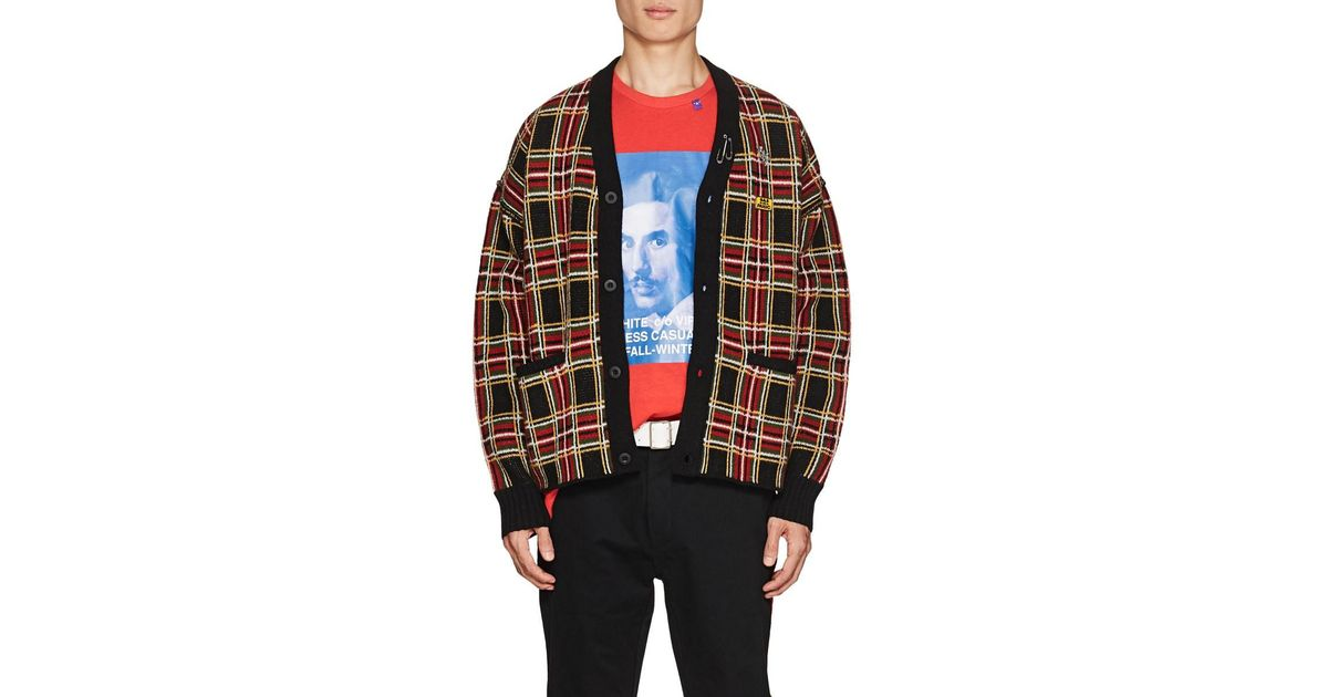 86ea4084540b99 Ovadia And Sons Men's Plaid Wool Cardigan for Men - Lyst