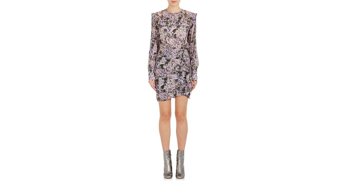 6c3901b0e12 Lyst - Étoile Isabel Marant Jirvina Ruffle Floral Crepe Dress in Purple
