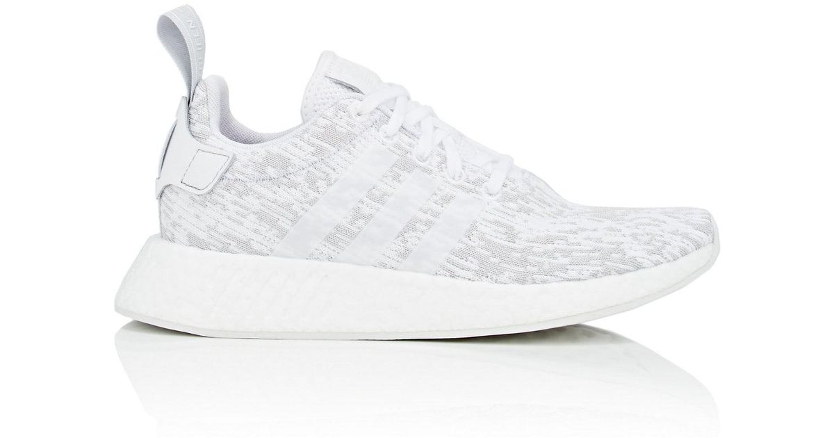 1458b98865fd9 Lyst - adidas Nmd R2 Primeknit Sneakers in White