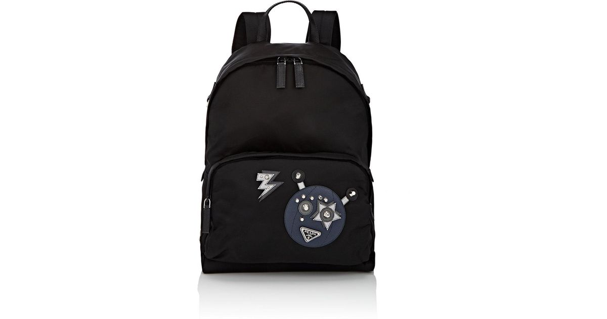 f17c9cd139c9 Lyst - Prada Robot Classic Backpack in Black for Men