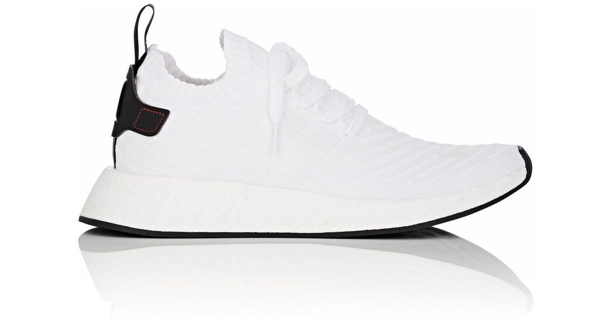 3e64f563725ea Adidas Nmd R2 Primeknit Sneakers in White for Men - Lyst