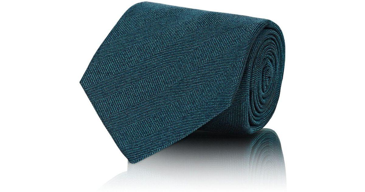 Mens Herringbone Silk Necktie Kiton GABNIBRXP