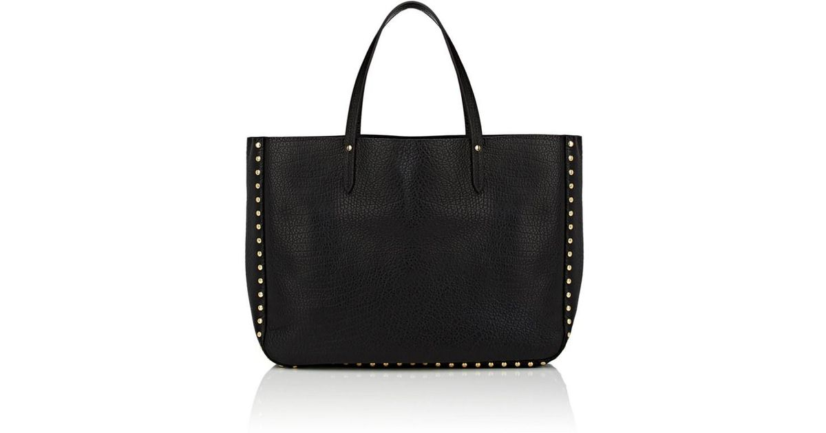 3831bd67d5 Lyst - Barneys New York Studded Leather Tote Bag in Black