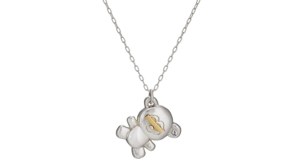 Lyst ambush teddy bear pendant necklace in metallic aloadofball Gallery