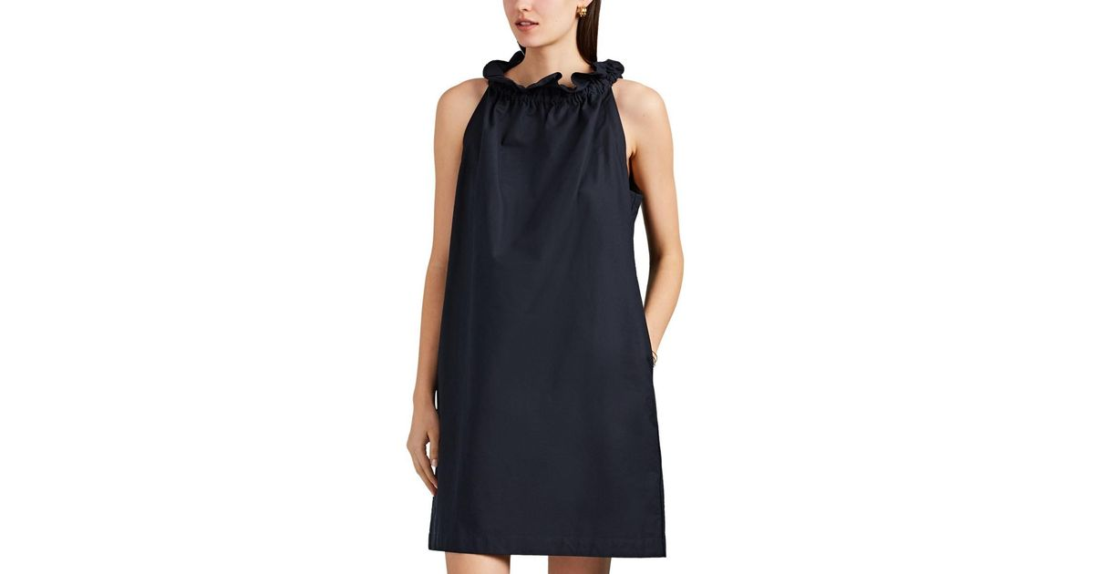 296abc160e Lyst - Atlantique Ascoli Latitude Cotton Piqué Dress in Blue