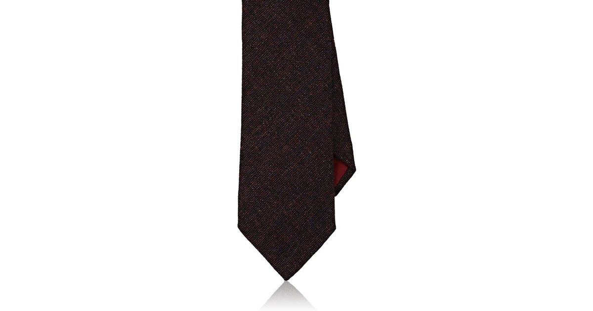 40b6678a747c Lyst - Bigi Mélange Wool Tweed Necktie in Purple for Men