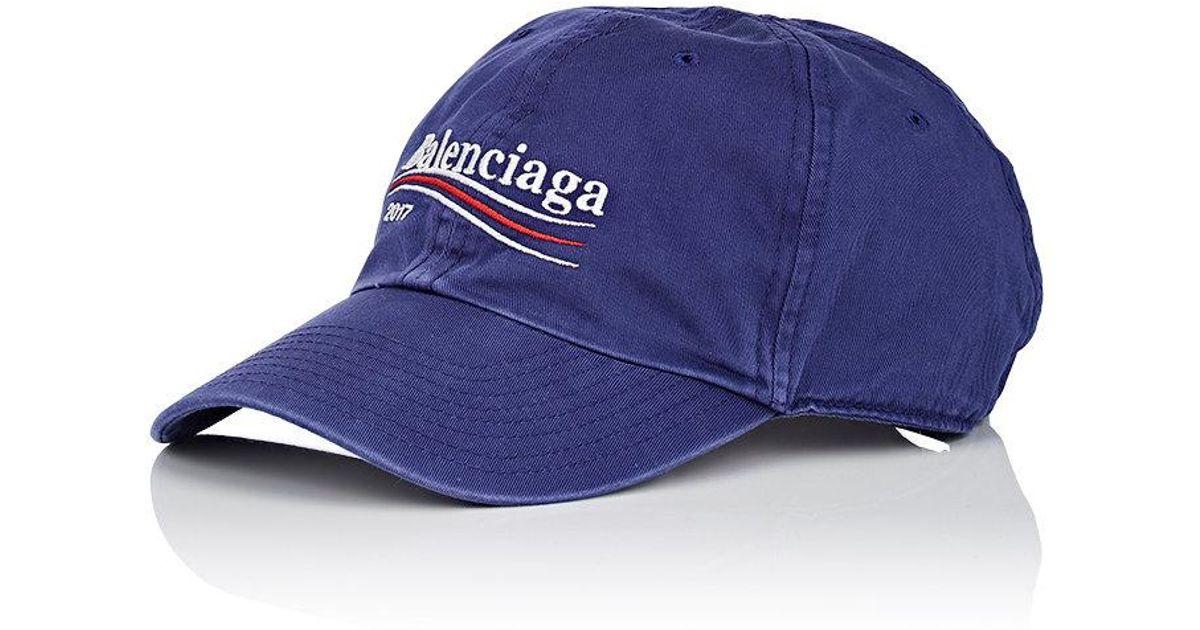 e412855d Balenciaga Logo Baseball Cap in Blue for Men - Lyst