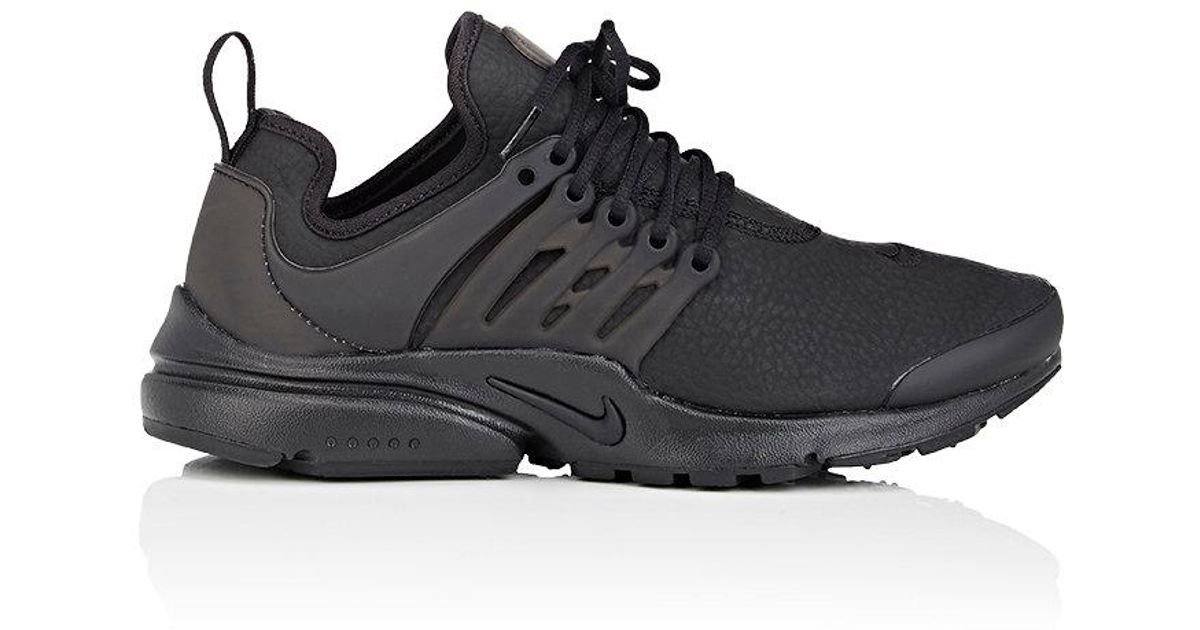 ... where to buy lyst nike air presto premium leather sneakers in black for  men 9290a 4b34b 13e12a448