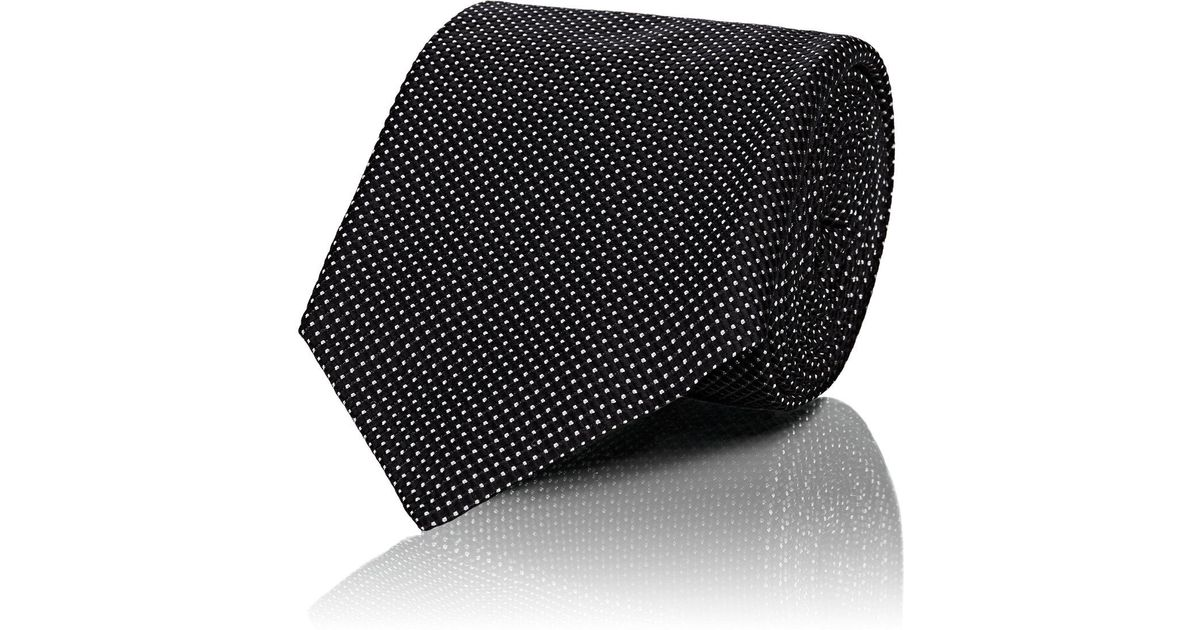 Mens Pin Dot Silk Necktie Cifonelli