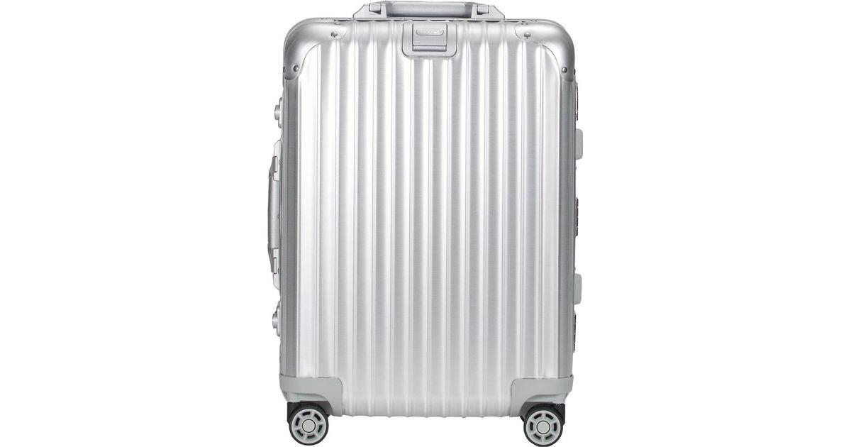 Rimowa Topas 22 Cabin Multiwheel Iata Trolley In Metallic