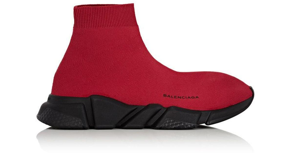 ba38d9e8635a Lyst - Balenciaga Speed Knit Sneakers in Red for Men