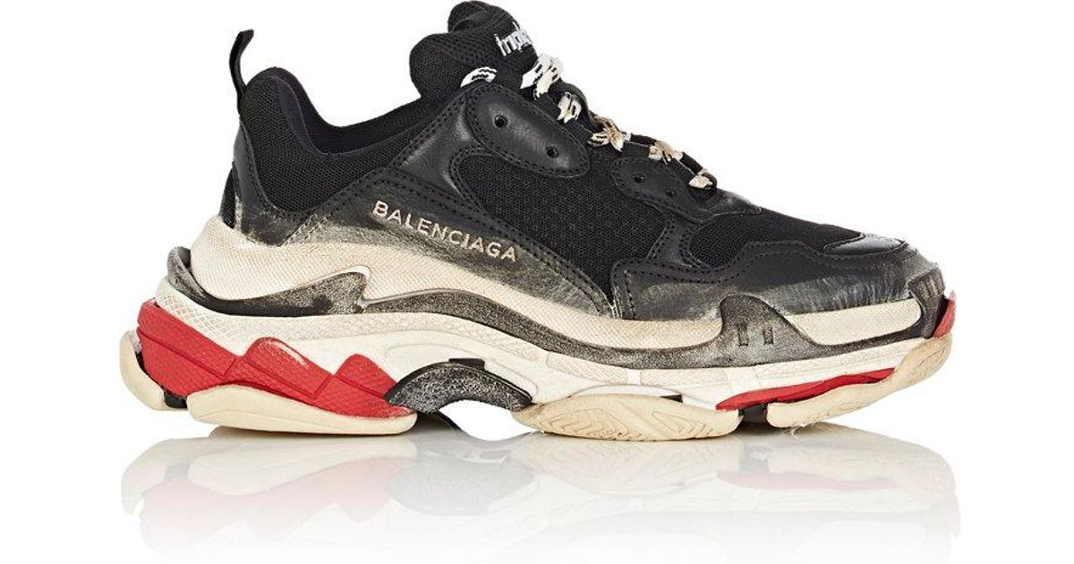 05ee396983 Balenciaga Triple S Sneakers in Black - Lyst
