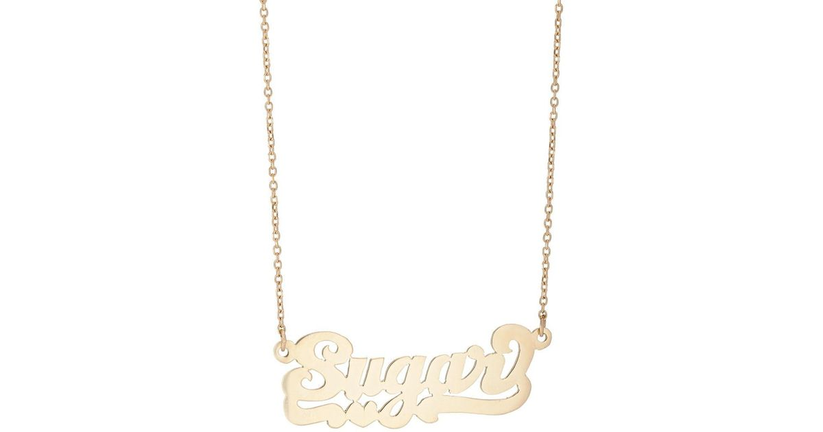 Bianca Pratt Womens Sugar Nameplate Necklace Ih5Wlk18