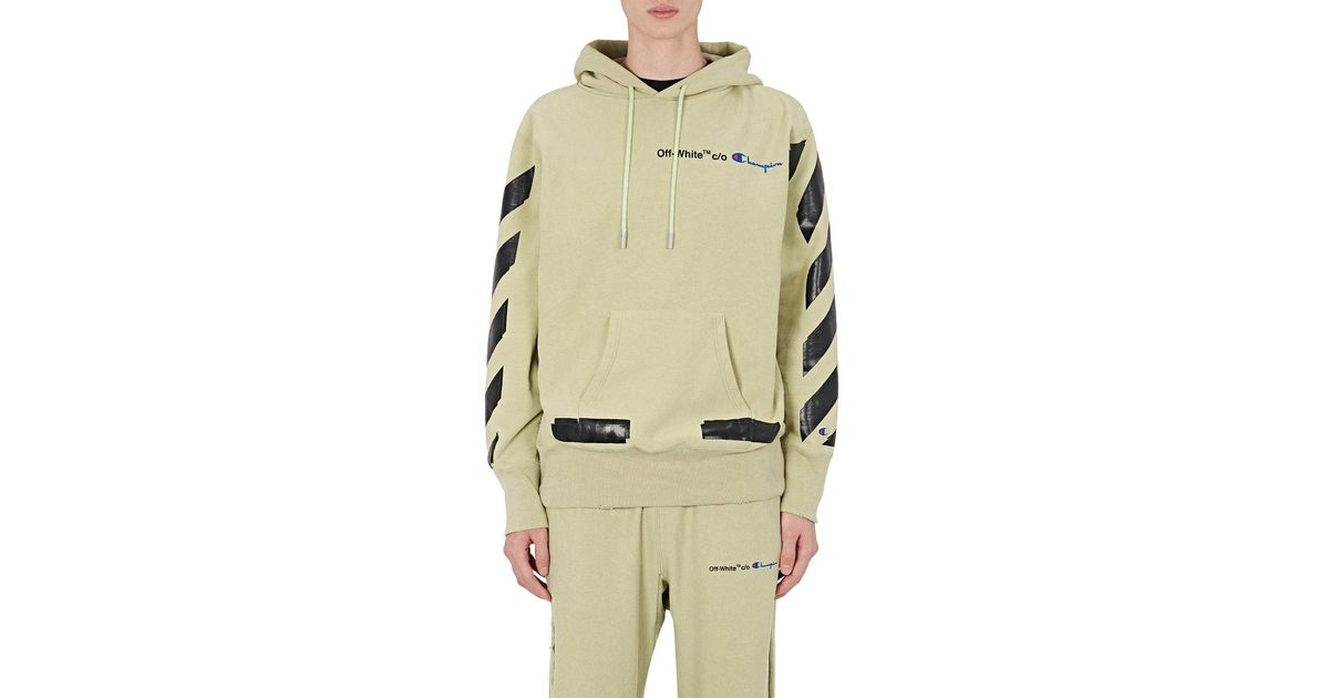 fa7ab392 Off-White c/o Virgil Abloh Champion Cotton in Natural for Men - Lyst