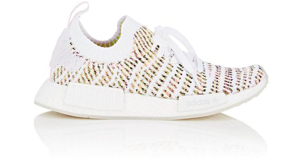 wholesale dealer 334d8 6452a adidas Nmd R1 Stlt Primeknit Sneakers Size 10 in White - Lyst