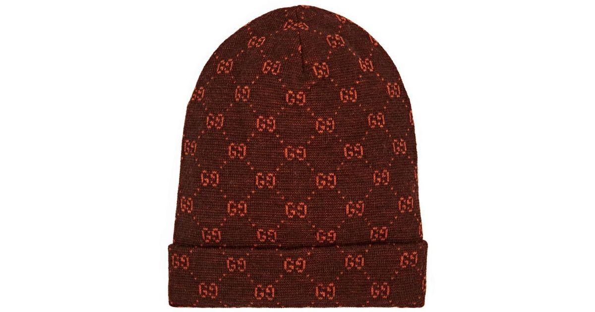 Gucci GG Logo Alpaca-wool Beanie in Brown for Men - Lyst dd4ea9572c0b