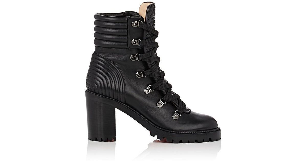the best attitude 6bee1 953fb Christian Louboutin - Black Mad Leather Boots - Lyst