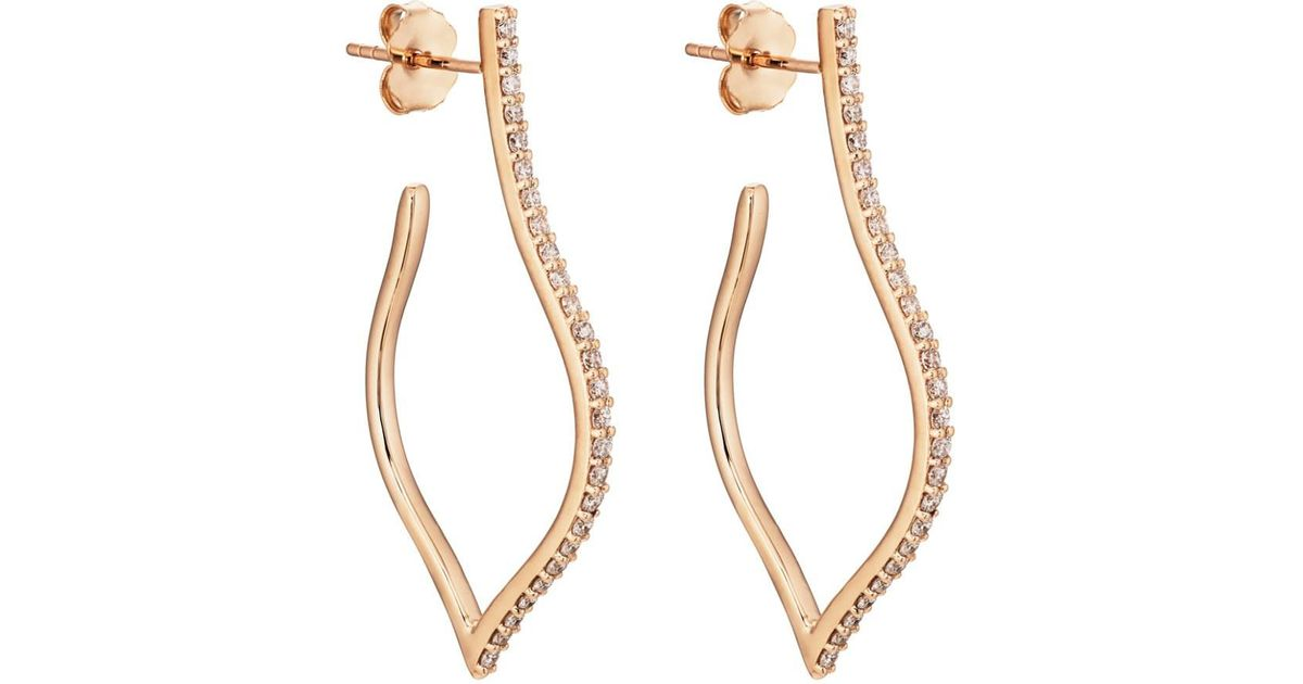 Sara Weinstock Womens Veena Small Hoop Earrings ZDcZs7M