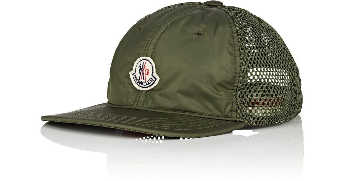 1e156dc4e6c Lyst - Moncler Logo Mesh-back Trucker Hat in Green for Men