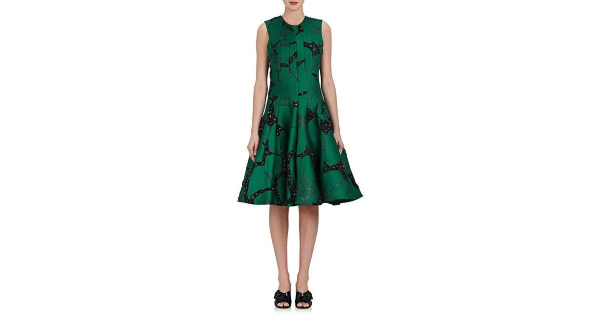 4721956cd4ae Thom Browne Embellished Floral Dress in Green - Lyst