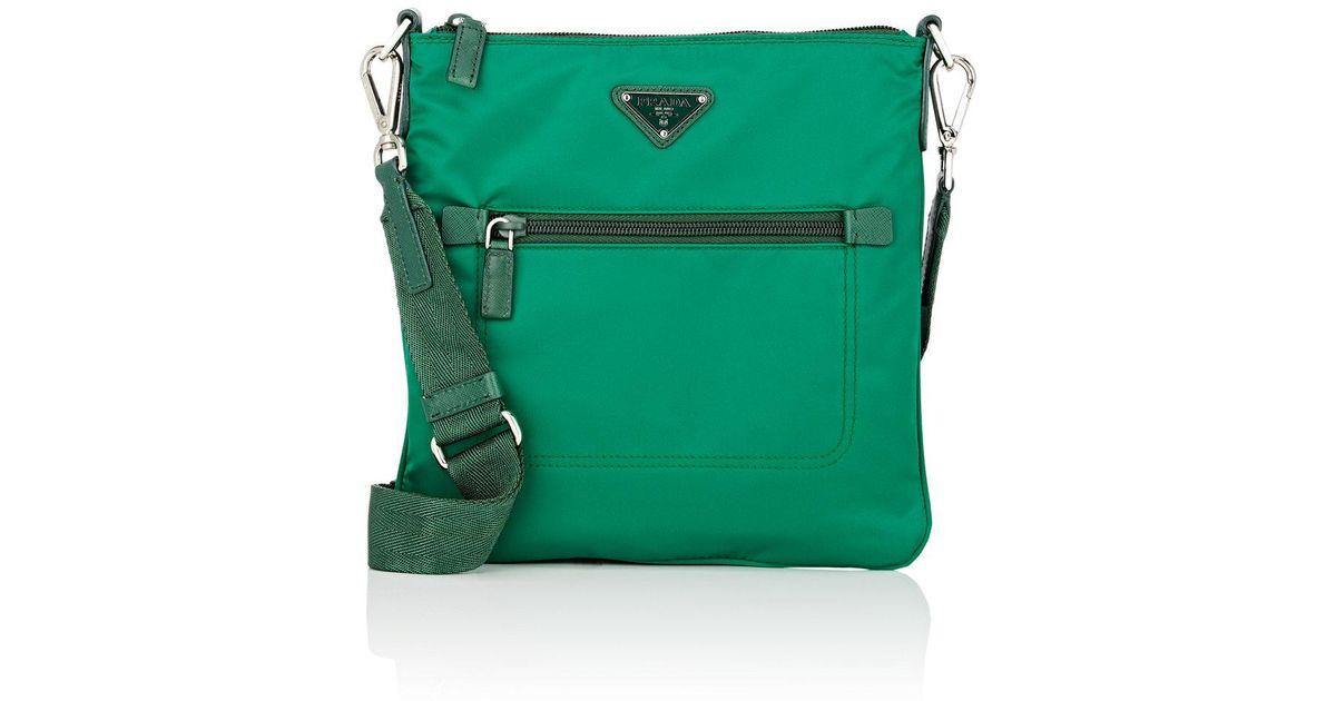 482591b89351 ... shop lyst prada crossbody bag in green af99d 220ab