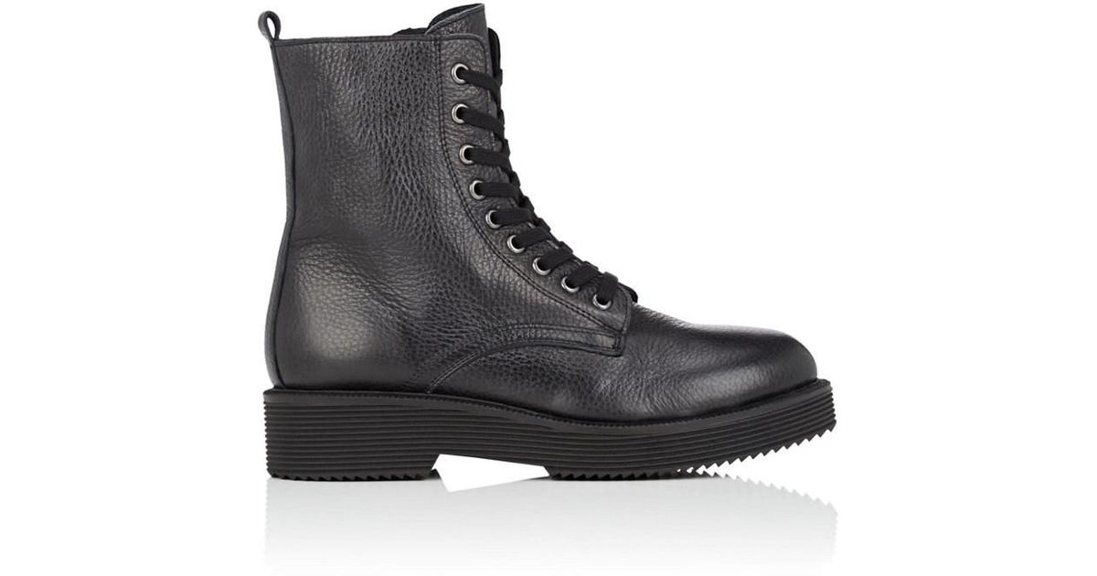 e2c76a51ca5 Lyst - Barneys New York Leather Lace-up Ankle Boots in Black - Save 50%