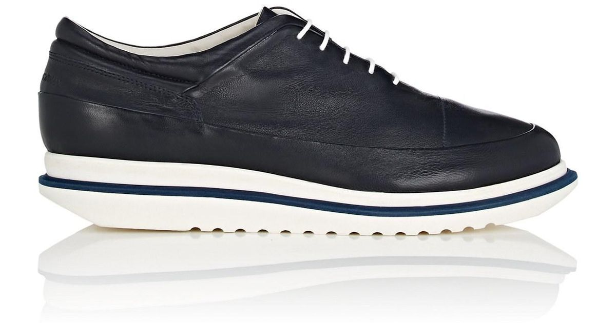 Mens Leather Platform Balmorals Emporio Armani New Outlet Store Extremely Cheap Online BaAyqVO0So