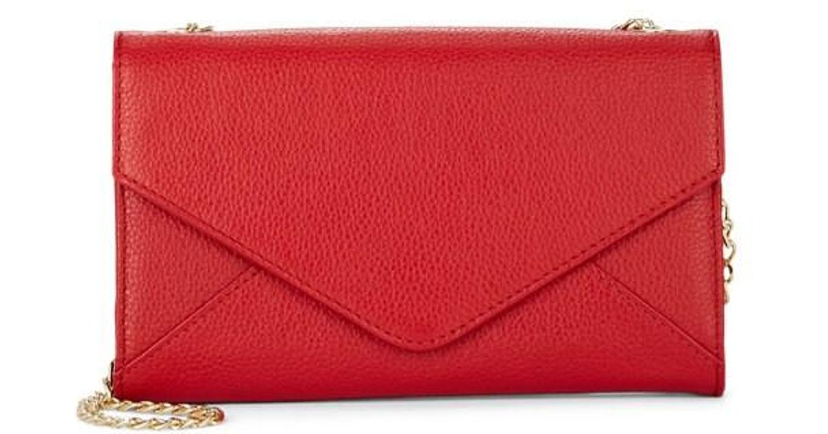 293f7c7c34f2 Lyst - Barneys New York Hannah Leather Chain Wallet in Red