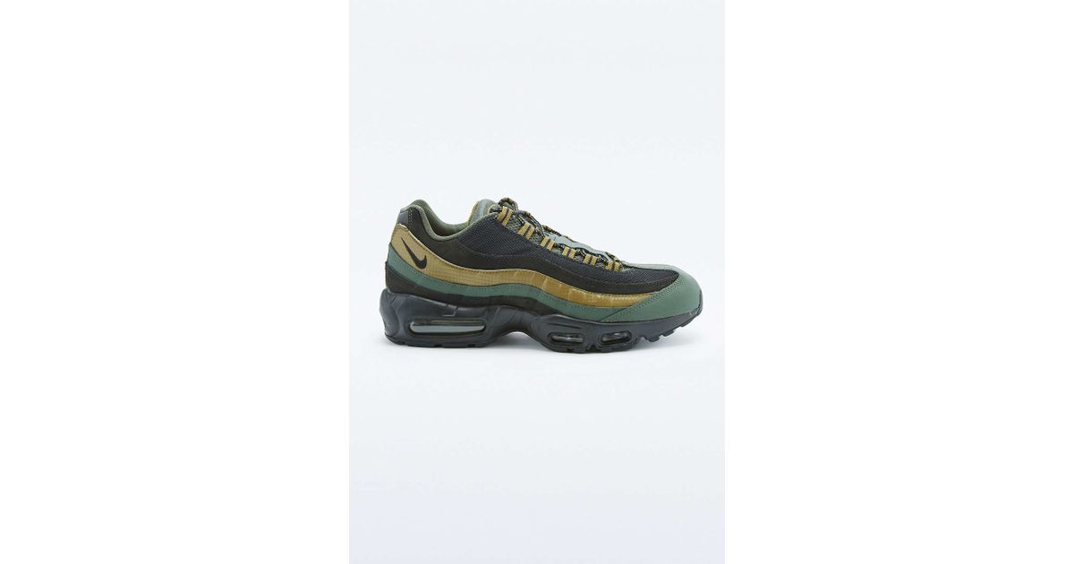 Nike Air Max 95 Essential Khaki And Black Trainers in Natural for Men