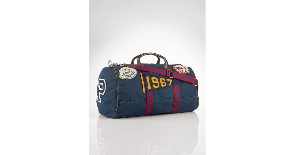 Lyst - Polo Ralph Lauren Canvas Stadium Duffel Bag in Blue for Men a232c56e2ef2f