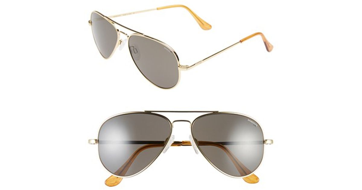 65c695c1ee Lyst - Randolph Engineering  concorde  57mm Metal Aviator Sunglasses in  Metallic