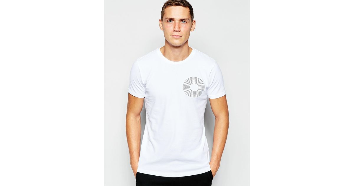 Lyst Han Kjobenhavn Han T Shirt With Circle Print In