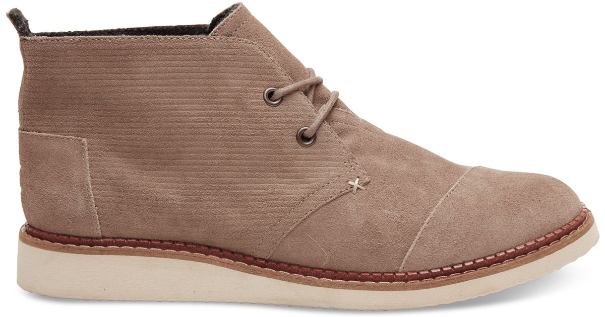 Toms Desert Taupe Embossed Suede Men's Mateo Chukka Boots in ...