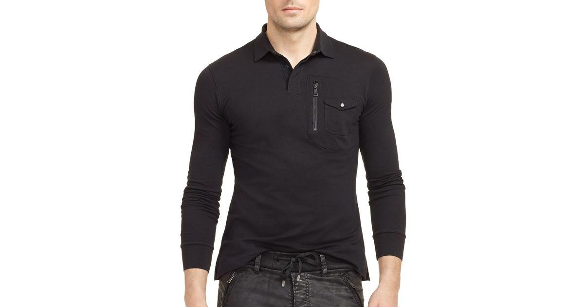 Ralph lauren black label stretch cotton slim fit bond for Ralph lauren black label polo shirt