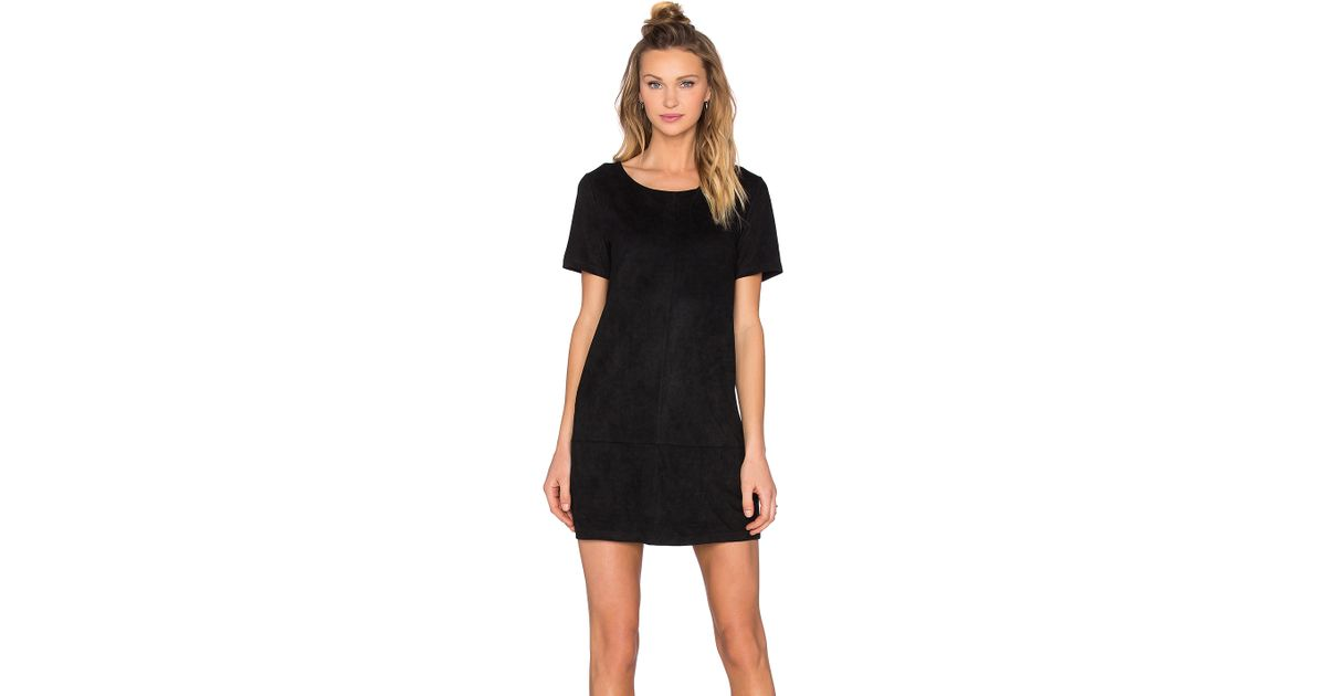 bad05de36597 Lyst - Bishop + Young Suede Dress in Black