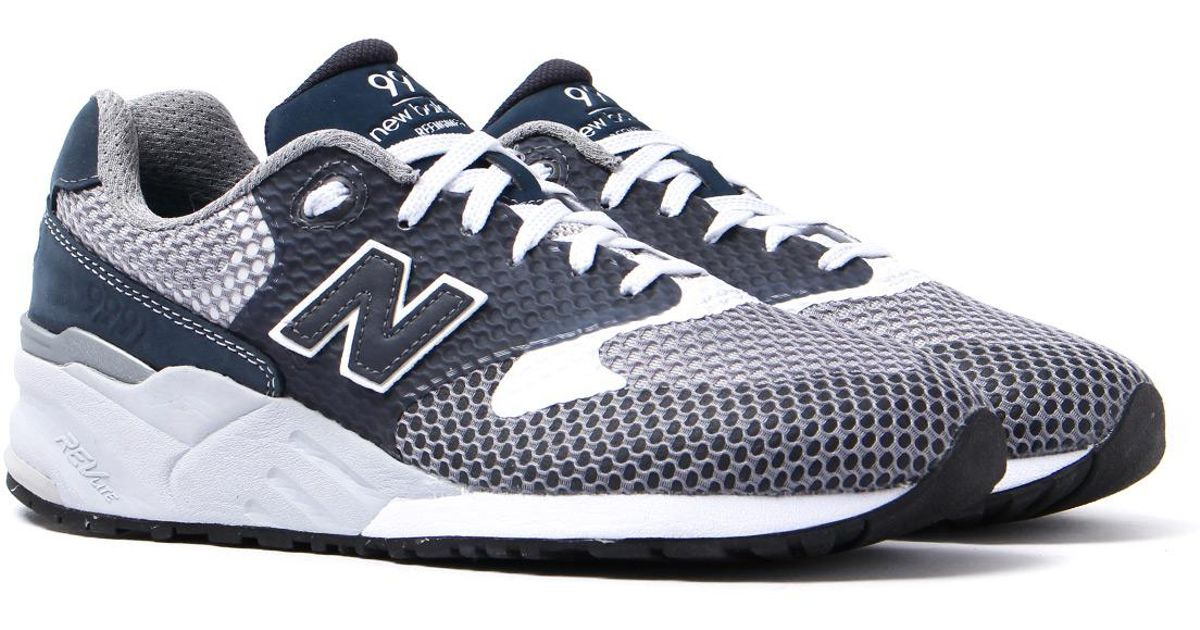 info for bdcf9 ca83e New Balance 999 Navy   Grey Re-engineered Mesh Trainers in Blue for Men -  Lyst