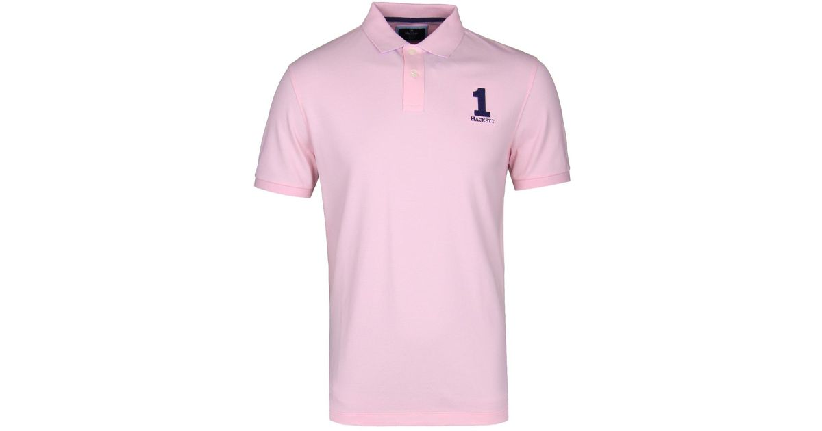 ceb25e13d Hackett Pink New Classic Short Sleeve Polo Shirt in Pink for Men - Lyst