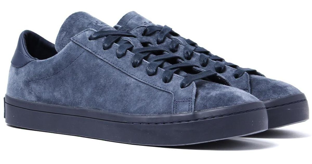 97ad307cb5e540 Lyst - adidas Originals Blue Suede Court Vantage Trainers in Blue for Men