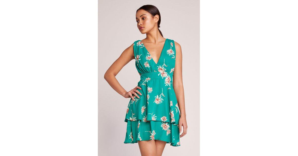 Lyst - BB Dakota Garden Strolls Dress in Green 96d0dca43