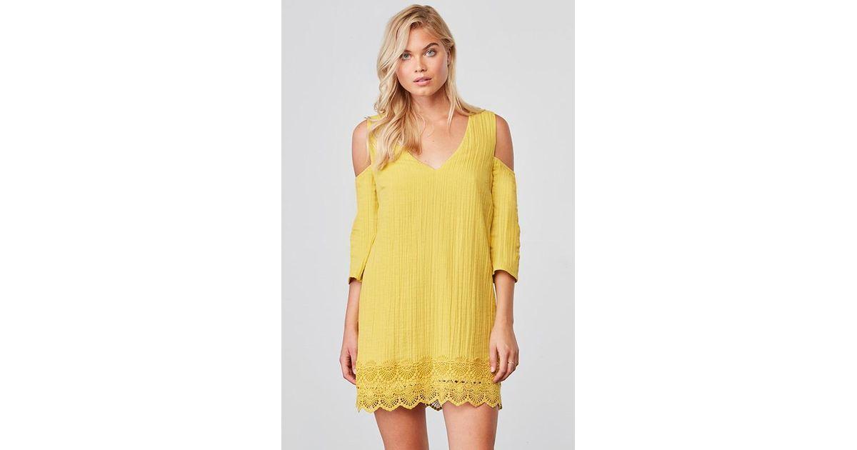8655d9ac125 Lyst - Jack BB Dakota Stefani Scalloped Hem Dress in Yellow