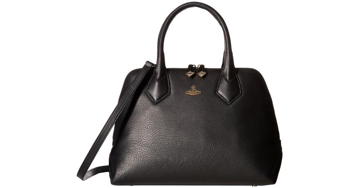 7ebd76bd25ae Lyst - Vivienne Westwood Spencer Handbag in Black