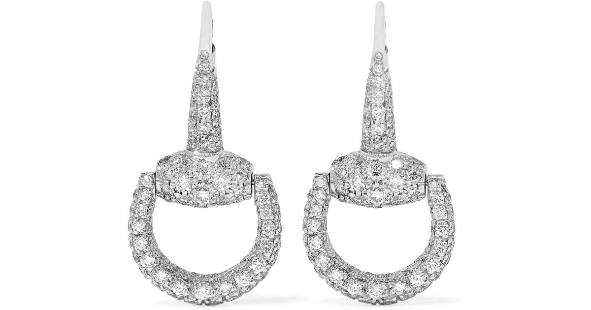 Gucci 18-karat White Gold Diamond Earrings - Silver thKfKcUOAM