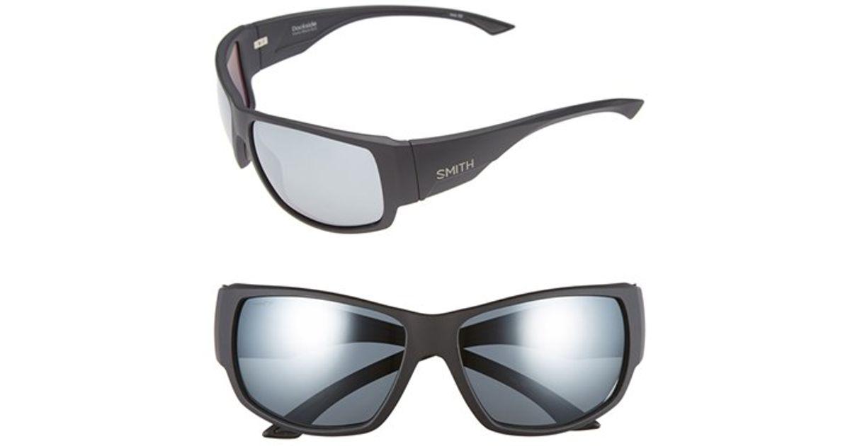 b180f5628d4 Lyst - Smith Optics  dockside  56mm Polarized Sunglasses in Black for Men
