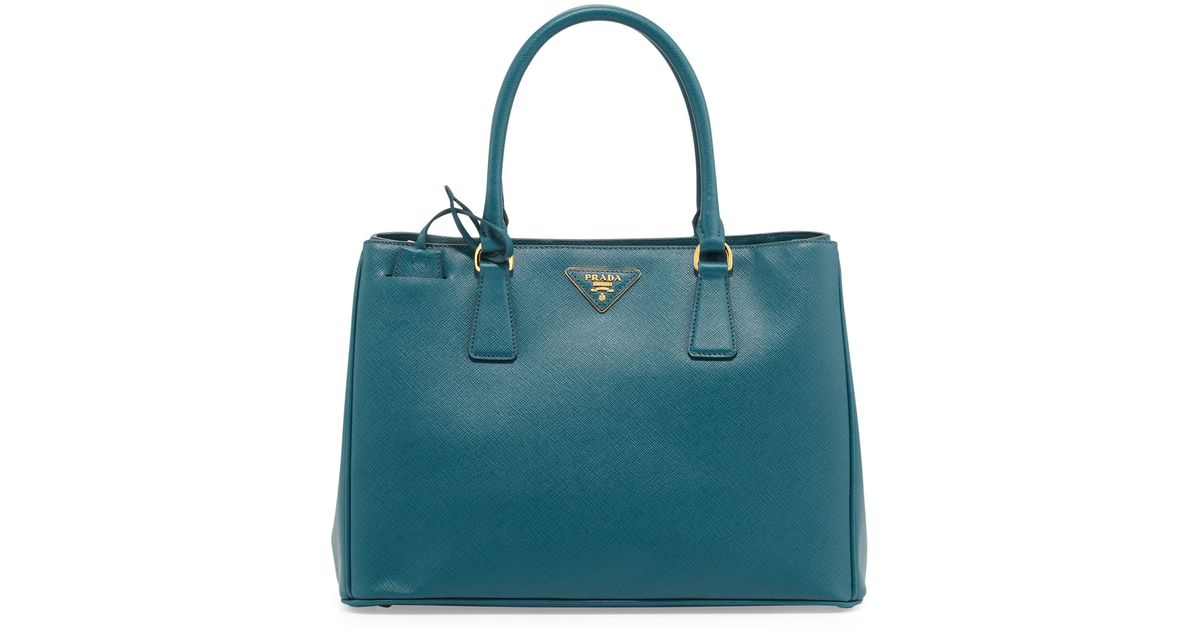 aa8958d5174e Prada Saffiano Gardener'S Tote Bag in Green - Lyst