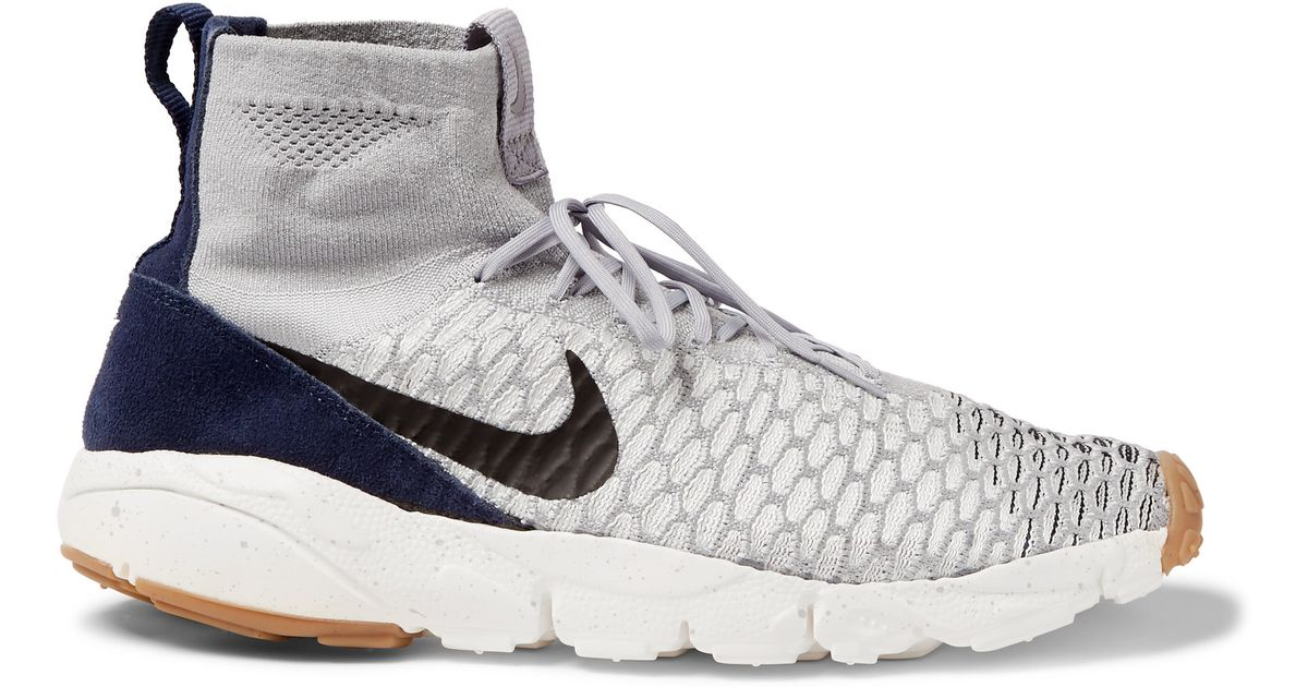 1a0ecab74df6 Nike Air Footscape Magista Flyknit High-top Sneakers in Gray for Men - Lyst